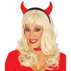 Halloween diadeem duivelsoortjes dames