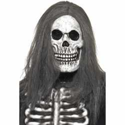Halloween Doodshoofd masker haar