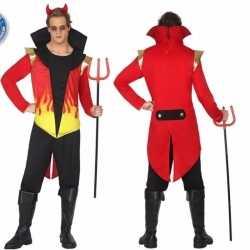 Halloween duivel heren kostuum vlammen