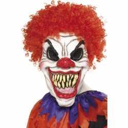 Halloween Eng clown masker haar