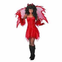 Halloween Feest jurkje rood dames
