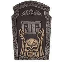 Halloween grafsteen rip knipperende led ogen 54