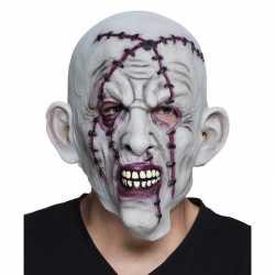 Halloween grijs horror halloween masker nietjes van latex