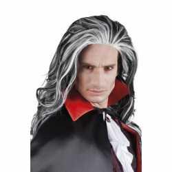 Halloween Grijze vampier pruik volwassenen