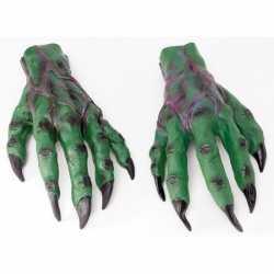 Halloween Groene horror handen