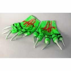 Halloween Groene monster handschoenen