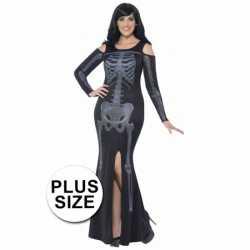 Halloween Grote maten skelet jurk dames