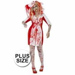 Halloween Grote maten zombie zuster jurkje dames