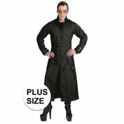 Halloween grote maten zwarte gothic/vampier jas verkleedkleding heren