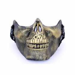 Halloween Half gezichtsmasker gouden schedel