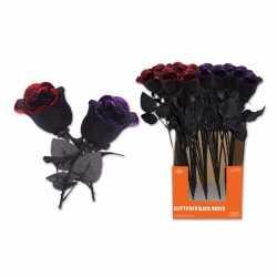 Halloween halloween kunst roos zwart rood