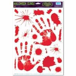 Halloween halloween raamsticker bloed handen