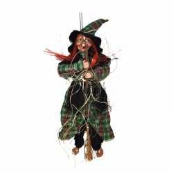 Halloween hangende heksen pop 45 groen
