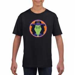 Halloween heks t shirt zwart kinderen