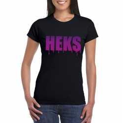 Halloween heks tekst t shirt zwart dames