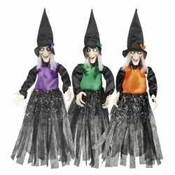 Halloween Heksen hangdecoratie oranje 70