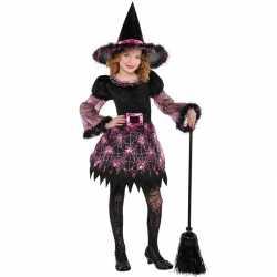 Halloween heksen kostuum spinnenweb meisjes