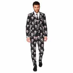 Halloween heren kostuum doodshoofden print
