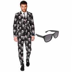Halloween heren kostuum maat 54 (xxl) gratis zonnebril