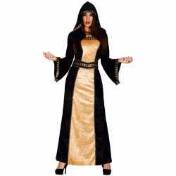 Halloween horror duistere vrouw jurk zwart goud