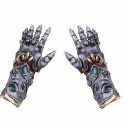 Halloween horror handschoenen metaal/alien volwassenen