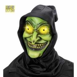 Halloween Horror masker lichtgevende ogen
