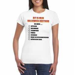 Halloween kostuum lijstje t shirt wit dames