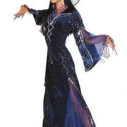 Halloween Lange heksenjurk dames paars