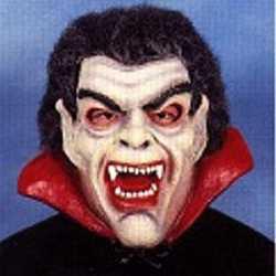 Halloween Latex Dracula masker haar