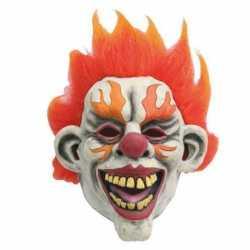 Halloween latex horror masker enge clown flames