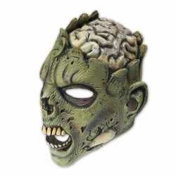 Halloween latex horror masker zombie brain