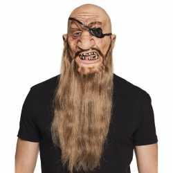 Halloween latex piraten masker volwassenen