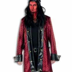 Halloween Luxe duivelsjas heren rood/zwart