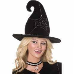 Halloween Luxe heksenhoed spinnenweb