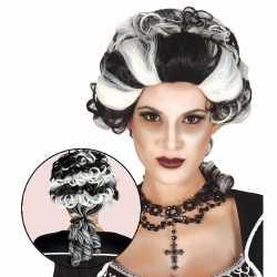 Halloween markies vampier / dracula damespruik