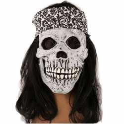 Halloween Masker schedel haarband haar