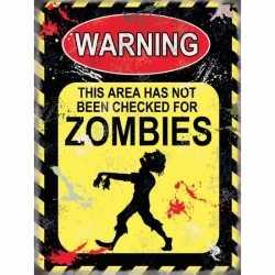 Halloween Metalen muurplaat Zombies 15 bij 20