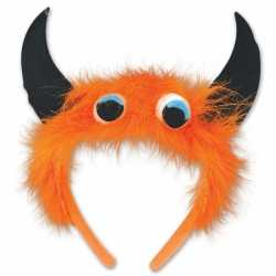 Halloween Monster diadeem oranje/zwart