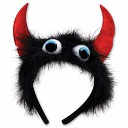 Halloween Monster diadeem zwart/rood