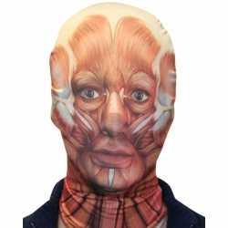 Halloween Morphsuit masker gezicht spieren