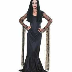 Halloween Morticia dames kostuum