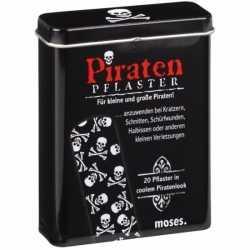 Halloween piraten pleisters 20 stuks