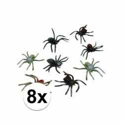 Halloween plastic spinnen 10 set 8 stuks