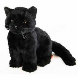 Halloween Pluche zittende knuffel kat zwart 20