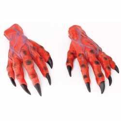 Halloween Rode duivel horror handen