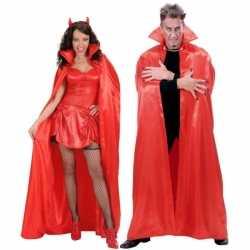 Halloween Satijnen cape rood