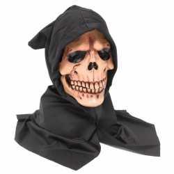Halloween Schedel masker zwarte kap