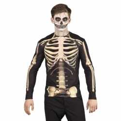 Halloween shirt skelet kleding opdruk heren