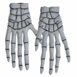 Halloween skelet handschoenen 40