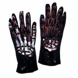 Halloween Skelet handschoenen bloed
